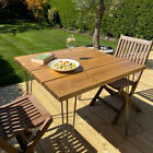 Outdoor Garden Dining Table / Bench with Optional Hairpin Legs Industrial Patio
