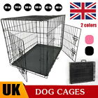 Folding Metal Dog Animal Cage Puppy Pet Crate Carrier -Small Medium Large XL XXL