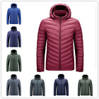 2021 New Down Quilted Lightweight Coat Jacket Blue Hooded Men's Down Coat M-6XL