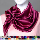 "100% Silk Scarf Silk Charmeuse Square Scarf Shawl 32""x32""  30 colors"