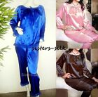 Womens Ladies 19M/M Pure 100% Silk Sleepwear Pajamas Set L XL XXL  AS1001
