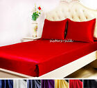 1~3 pcs 30MM Heavy Weight Silk Fitted Sheet Pillowcases Sets Queen Multicolors