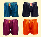 1 Pc Men's 100% Pure Silk Sport Athletic Gym Jogging Football Boxer Shorts SU215