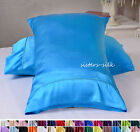 1PC 16MM 100% PURE SILK PILLOW CASE SHAMS US TRADITIONAL STYLE ALL SIZE 30 COLOR
