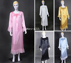 Lady's Pure Silk Long Robe/Sleepwear~One size ●#AS1193