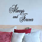 """ALWAYS AND FOREVER"" wall stickers graphics art decals"
