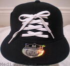 NEW LACE BLING HIP HOP FITTED BLACK BASEBALL HAT CAP