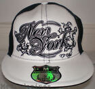 NEW BLING HIP HOP WHITE FITTED FLAT BASEBALL HATS CAPS