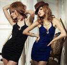 Womens Strapless Cocktail Club Halter Mini Dress D109