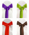 200 Polyester Chair Cover Sash Bows 23 Colors Made USA Wedding Party Event Decor