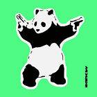 Banksy- Panda with Guns-Green- Graffiti street art