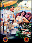 "640.Cuban poster""Bacardi.Hatuey Beer""Retro girl.Sailor.Home interior design art"