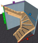 Pine open Staircase > 6 kite Winder Stair