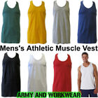 MENS MUSCLE SLEEVELESS ATHLETIC GYM VEST - FIT TANK TOP
