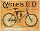 BICYCLE BIKE CYCLES ED ELEGANT GRACIEUSE RIGID FRENCH VINTAGE POSTER REPRO