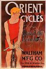 ORIENT CYCLES LEAD THE LEADERS WALTHAM MFG CO BICYCLE BIKE VINTAGE POSTER REPRO