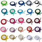 "25 Yards 1/4"" 6mm Satin Ribbon Wedding Party Colors New"