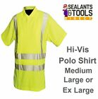 Silverline Hi-Vis Work Polo T Shirt Safety Vest Class 2