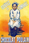 FRENCH VINTAGE POULAIN CHOCOLAT FRANCE REPRO POSTER