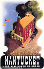 AMERICAN NANTUCKET ISLAND NEW HAVEN RAILROAD TRAVEL VINTAGE POSTER REPRO
