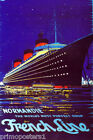 NORMANDIE THE WORLD'S MOST PERFECT SHIP FRENCH LINE TRAVEL VINTAGE POSTER REPRO