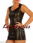 m101 Genuine leather plain mini dress sleeveless