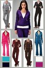 VELVET VELOUR LUXURIOUS TRACKSUIT XS S M L XL *4 colors