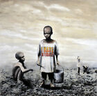 "Banksy-  I Hate Mondays 24""x24"" - Graffiti street art"