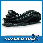 10m (32ft) CABLE SPIRAL WRAP TUBE BLACK - 6mm Diameter