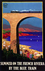 4059 Summer on the French Riviera by the blue train POSTER. Art Decorative.