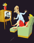 1645 Several watching television quality POSTER.Decorative Art.DESIGNERS buy here