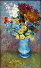 "Vincent Van Gogh- Flowers in a Blue Vase - 20""x26"" Art on Canvas"