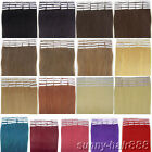 Tape Skin 100% INDIAN Remy Human Hair Extensions 20pcs Multiple 10Colors&4Size