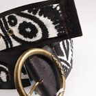 ROXY Real Leather Ethnic Belt Cinturón Pásu Ceinture Gürtel Black Chocolate R€50