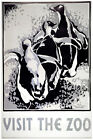 """2703 Black & white"""" Visit the zoo """" quality POSTER. Decorative Inspirational Art"""