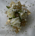 Weddding Groom Mother Of The Bride Rose Bling Crystal Corsage - all colours