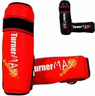 TurnerMAX Shin Pads MMA Leg Foot Protector Guards Muay Thai Kick Boxing Training