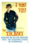 """I Want You for the Navy - 20""""x32"""" Art on Canvas"""