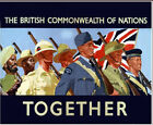 "The British commonwealth of nations- together!- - 20""x32"" Art on Canvas"