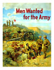 "Men wanted for the Army - 20x32"" Military Recruiting Poster"
