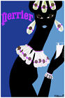 3018.Perrier psychedelic POSTER.Black lady.Home interior design art.Kitchen