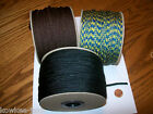 3mm Amy macrame jewelry cord; forest,  brown,  yellow /blue.  100yds (300ft)