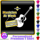 Acoustic Guitar Dont Wake Me - Custom Music T Shirt 5yrs - 6XL by MusicaliTee