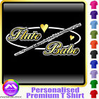 Flute Babe Oval - Personalised Music T Shirt 5yrs - 6XL by MusicaliTee