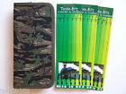 Camo Carp Rig Wallet & 18 Carp Hair Rigs Size 8 Swivels Fit Carp Safety Clips