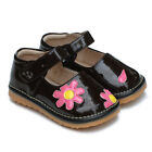 Girl's Infant Toddler Children's Squeaky Shoes Brown Patent Leather