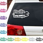 Built not bought sticker decal wrench custom truck jeep car graphic