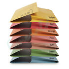 50 x Foolscap HEAVYWEIGHT Document Wallets Various Colours Fits A4 285gsm
