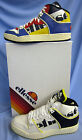 MENS LEATHER LACE UP ELLESSE HI TOP TRAINERS ( ASSIST 1)