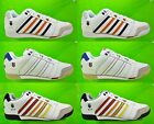 Mens K-SWISS Trainers SI-17 Leather White Orange Blue Red Size 6 7 8 9 10 11 12